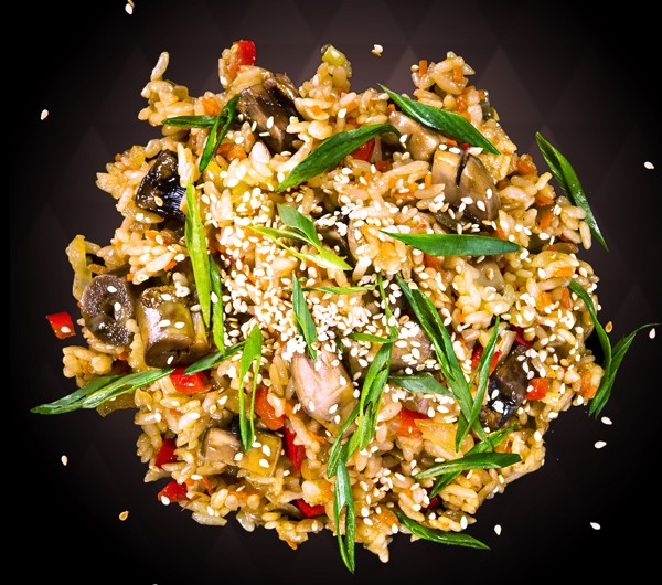 заказать: Wok Box - Тяхан с грибами и овощами