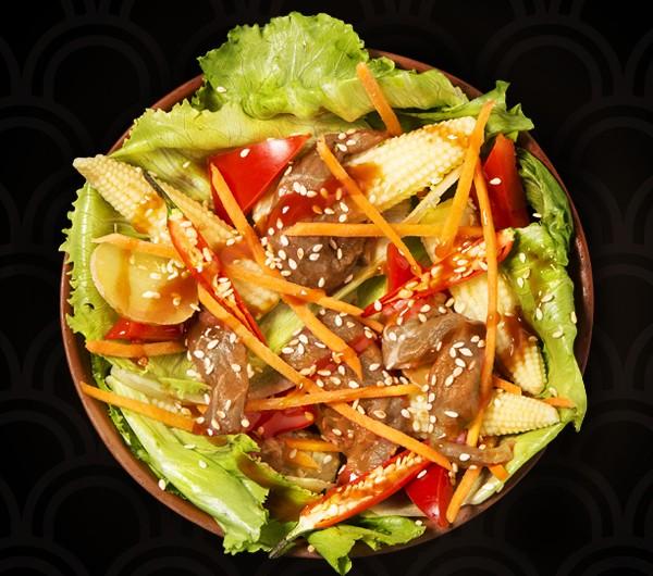 заказать: Салаты - Теплый салат с телятиной