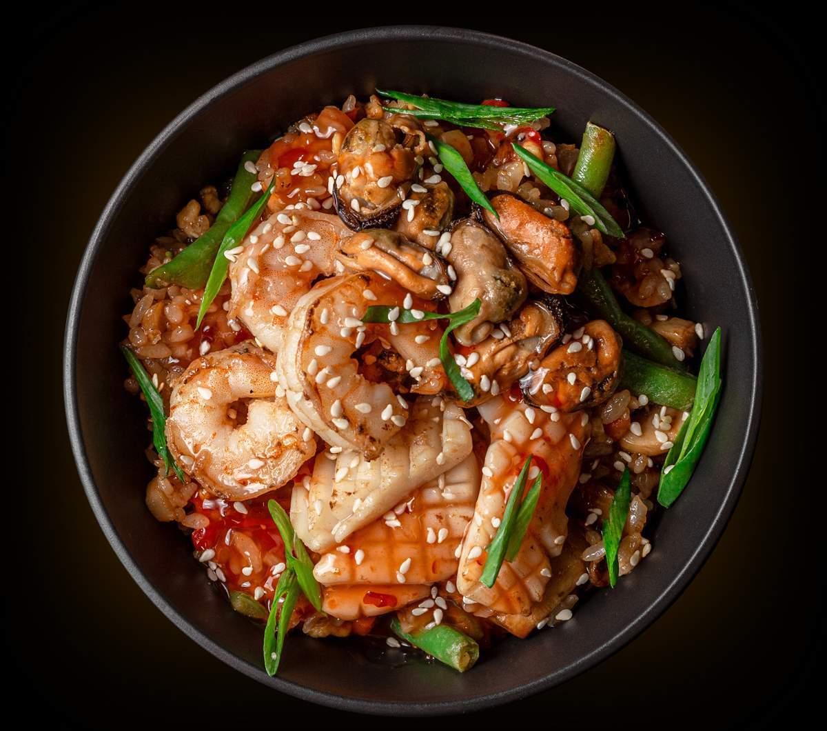 заказать: WOK - Тяхан с морепродуктами