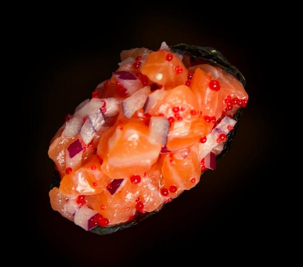 заказать: Суши - Гункан с тартаром из лосося