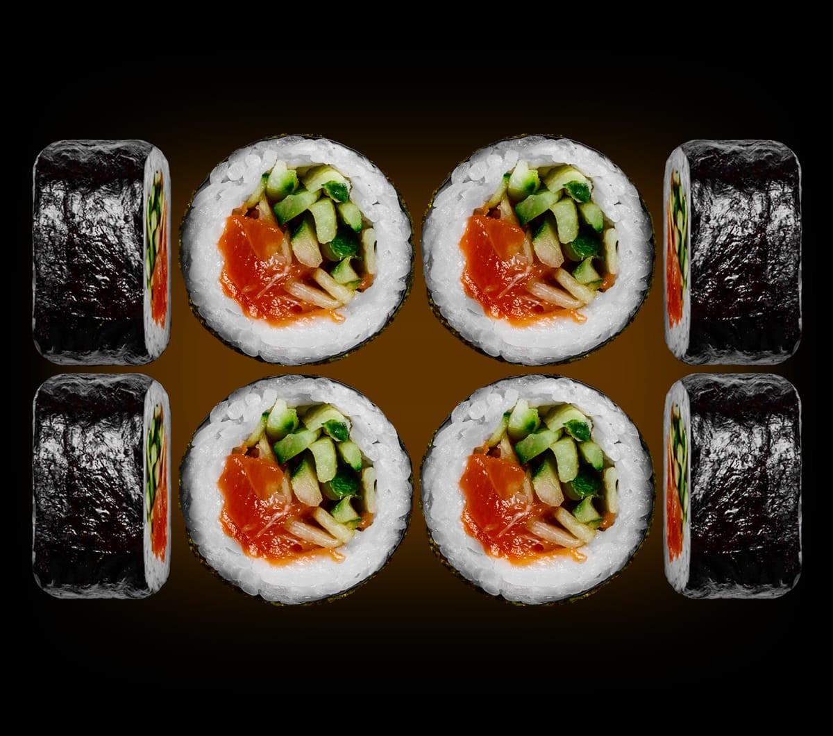 заказать:(uk) Ролли - Маки з лососем і огірком
