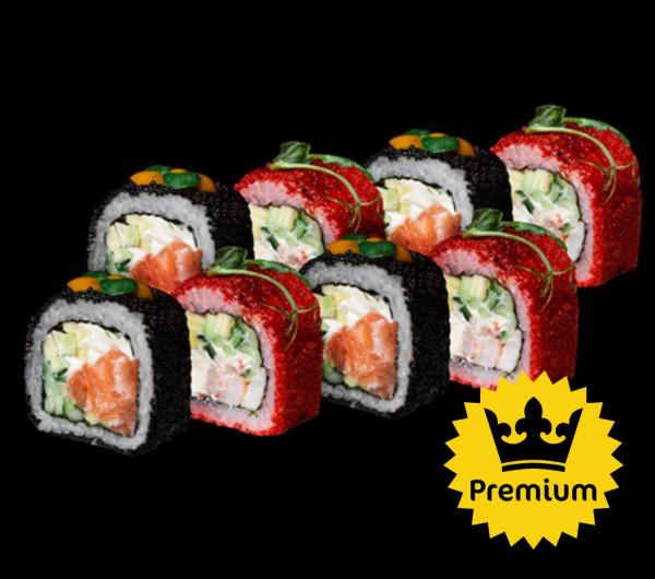 заказать: Роллы - Калифорния Premium с лососем и креветкой